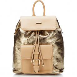 Plecak damski 87-4Y-773-G. Żółte plecaki damskie Wittchen, z motywem zwierzęcym. Za 319,00 zł.