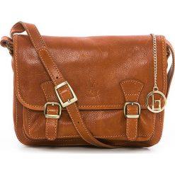Torebki klasyczne damskie: Skórzana torebka w kolorze brązowym – 26 x 19 x 12 cm