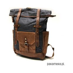 P5 VINTAGE MARK I™ Plecak unisex płótno skóra. Brązowe plecaki męskie marki Pakamera, ze skóry, vintage. Za 410,00 zł.