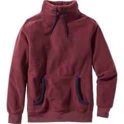 Bluza z polaru z kapturem Regular Fit bonprix czerwony klonowy. Czerwone bluzy męskie rozpinane marki KALENJI, m, z elastanu, z długim rękawem, długie. Za 49,99 zł.