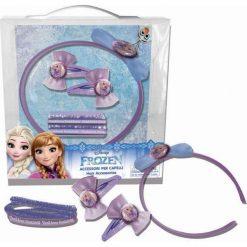 Frozen zestaw akcesoriów do włosów z opaską. Szare ozdoby do włosów marki Coriex. Za 15,60 zł.
