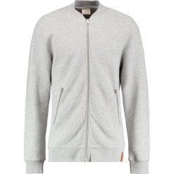 Kardigany męskie: Knowledge Cotton Apparel QUILTED ZIP Kardigan grey melange