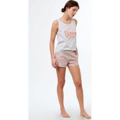 Etam - Top piżamowy Jenny. Białe piżamy damskie marki MEDICINE, z bawełny. W wyprzedaży za 39,90 zł.