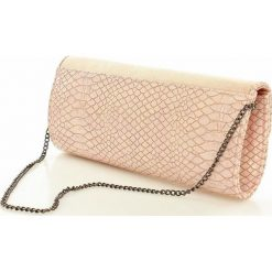 Puzderka: Elegancka torebka wizytowa kopertówka różowy