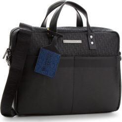 Torba na laptopa TRUSSARDI JEANS - Bocconi 71B00076 K299. Czarne torby na laptopa marki Trussardi Jeans, z jeansu. W wyprzedaży za 449,00 zł.