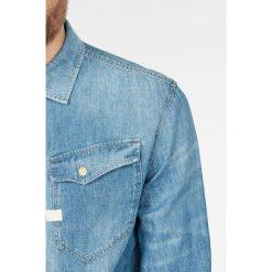G-Star Raw - Koszula. Szare koszule męskie jeansowe G-Star RAW, l, z klasycznym kołnierzykiem, z długim rękawem. W wyprzedaży za 399,90 zł.