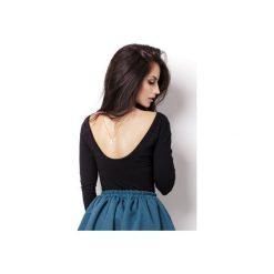 Bluzka Isabelle. Czarne bluzki damskie marki ivon, m, z jeansu, klasyczne, z klasycznym kołnierzykiem. Za 89,00 zł.