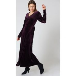 Sukienki: Rut&Circle Aksamitna sukienka-płaszcz - Purple