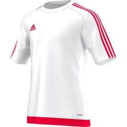 Odzież sportowa męska: Adidas Koszulka piłkarska męska Estro 15 biało-czerwona r. XXL (S16166)
