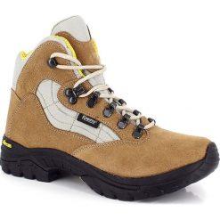 """Buty trekkingowe damskie: Skórzane buty trekkingowe """"Nimba"""" w kolorze beżowym"""