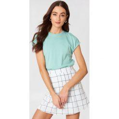 Rut&Circle T-shirt Ella Basic - Green. Zielone t-shirty damskie Rut&Circle, z bawełny. Za 80,95 zł.