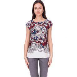 Bluzki asymetryczne: Bluzka we wzory z półokrągłym dekoltem BIALCON