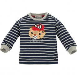 """Bluza """"Team"""" w kolorze granatowo-szarym. Niebieskie bluzy chłopięce marki Bondi, z aplikacjami, z bawełny. W wyprzedaży za 45,95 zł."""