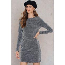 Sukienki: NA-KD Party Brokatowa sukienka z okrągłym dekoltem – Silver