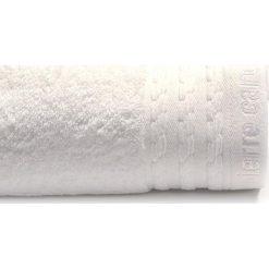 Kąpielówki męskie: Ręcznik w kolorze białym