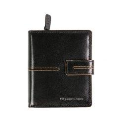 Portfele damskie: Skórzany portfel w kolorze czerwonym – (S)12 x (W)10 cm