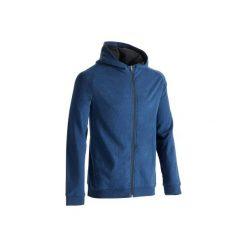 Bluza na zamek z kapturem Gym & Pilates 500 męska. Niebieskie bluzy męskie rozpinane marki DOMYOS, m. W wyprzedaży za 54,99 zł.