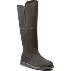 Kozaki EMU AUSTRALIA - Quin Hi W11286 Charcoal. Czarne buty zimowe damskie marki Superfit, z gore-texu, przed kolano, na wysokim obcasie. Za 849,00 zł.