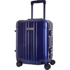Walizka w kolorze niebieskim - 35 l. Niebieskie walizki Platinium, z materiału. W wyprzedaży za 349,95 zł.
