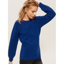 Sweter z szerokimi rękawami - Niebieski. Niebieskie swetry klasyczne damskie House, l. Za 59,99 zł.