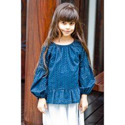T-shirty dziewczęce: NELLY bluzka ażurowa z haftem dla dziewczynki