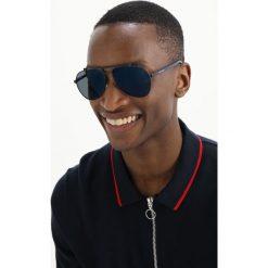 Dolce&Gabbana Okulary przeciwsłoneczne dark blue. Niebieskie okulary przeciwsłoneczne męskie wayfarery Dolce&Gabbana. Za 1069,00 zł.