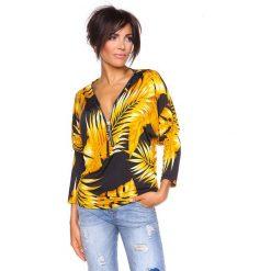 """T-shirty damskie: Koszulka """"Diane"""" w kolorze czarno-żółtym"""