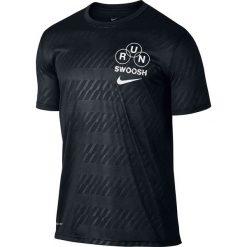 Nike Koszulka męska DRY TEE LGD RUN SWOOSH czarna r. XL (839228 010). Białe koszulki sportowe męskie marki Adidas, l, z jersey, do piłki nożnej. Za 115,42 zł.