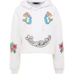 Odzież damska: Love Moschino Bluza z kapturem white