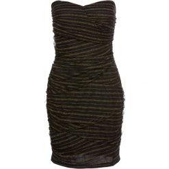 Sukienki: Sukienka na party bonprix czarno-złoty