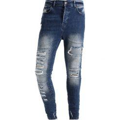 Jeansy męskie regular: SIKSILK DROP CROTCH Jeans Skinny Fit blue