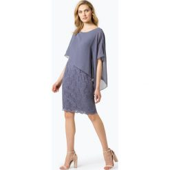 Swing - Damska sukienka wieczorowa, lila. Szare sukienki balowe marki Swing, w koronkowe wzory, z koronki. Za 449,95 zł.
