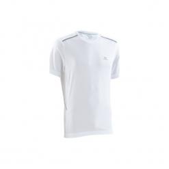 Koszulka do biegania krótki rękaw RUN DRY+ BREATHE męska. Czarne koszulki do biegania męskie marki KALENJI, m, z elastanu, z krótkim rękawem. Za 49,99 zł.
