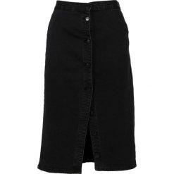 Spódnica - 70-3114 NERO. Czarne spódniczki jeansowe Unisono, m, dopasowane. Za 99,00 zł.