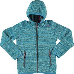 Kurtka polarowa w kolorze błękitnym. Niebieskie kurtki dziewczęce marki CMP Kids, z dzianiny. W wyprzedaży za 112,95 zł.