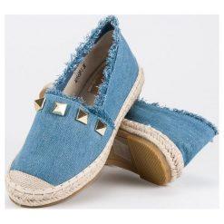 Tomsy damskie: Bestelle jeansowe espadryle z dżetami niebieskie