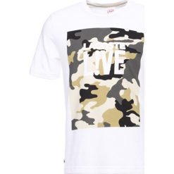 T-shirty męskie: Lacoste LIVE Tshirt basic white/pastis yellow