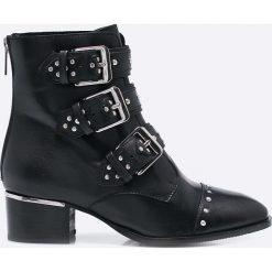 Bronx - Botki. Czarne botki damskie skórzane marki Bronx. W wyprzedaży za 269,90 zł.