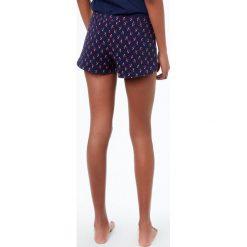 Etam - Szorty piżamowe Juno. Niebieskie piżamy damskie marki Etam, l, z bawełny. W wyprzedaży za 49,90 zł.