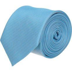 Krawat platinum niebieski classic 202. Niebieskie krawaty męskie Recman, z aplikacjami, z tkaniny, biznesowe. Za 49,00 zł.