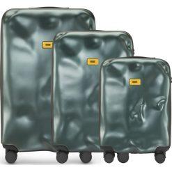 Walizki Icon w zestawie 3 el. zielony. Szare walizki marki Crash Baggage, z materiału. Za 2628,00 zł.