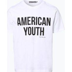 Calvin Klein Jeans - T-shirt męski, czarny. Czarne t-shirty męskie marki Calvin Klein Jeans, l, z napisami, z jeansu. Za 129,95 zł.