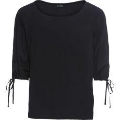 Bluzka z dekoltem w łódkę bonprix czarny. Czarne bluzki z odkrytymi ramionami bonprix, z dekoltem w łódkę. Za 59,99 zł.