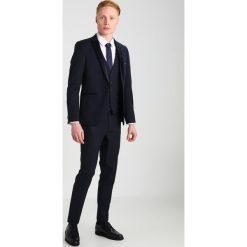 Marynarki męskie slim fit: Burton Menswear London DOBBY Marynarka garniturowa dark blue