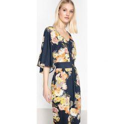 Sukienki: Sukienka kwiecista, rękawy kimono