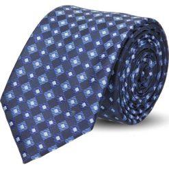 Krawat platinum granatowy classic 243. Niebieskie krawaty męskie Recman. Za 49,00 zł.