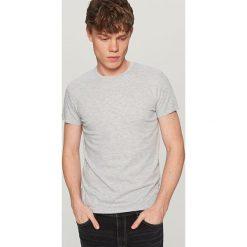 T-shirty męskie: Melanżowy t-shirt basic – Jasny szar
