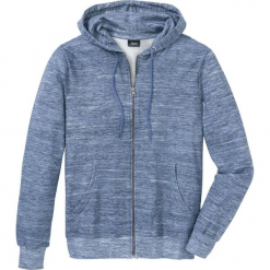 Bluza rozpinana z kapturem bonprix niebieski melanż. Czerwone bluzy męskie rozpinane marki KALENJI, m, z elastanu, z długim rękawem, długie. Za 89,99 zł.