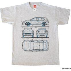 Koszulka VOLKSWAGEN GOLF 7 - 1 GRAY tshirt. Szare t-shirty męskie z nadrukiem Pakamera, m, z golfem. Za 77,00 zł.
