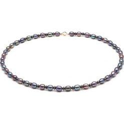 Naszyjniki damskie: Naszyjnik w kolorze czarnym z perłami – (D)45 cm